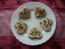 Brotherzen mit Frischkäse - Rezept