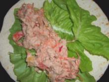Wrap mit Thunfisch-Paprika-Karottencreme - Rezept