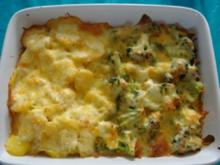 Auflauf: Blumenkohl/Broccoli - Kartoffeln - Rezept