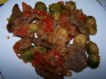 Rezept: Bunte Rindfleischpfanne