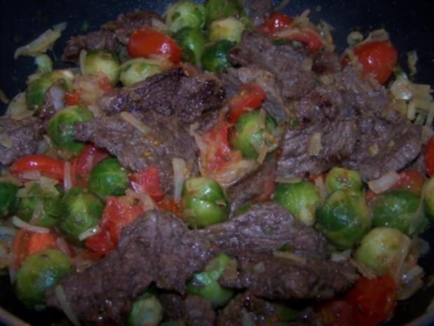 Bunte Rindfleischpfanne - Rezept