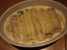 Lauchröllchen mit Parmesan - Rezept