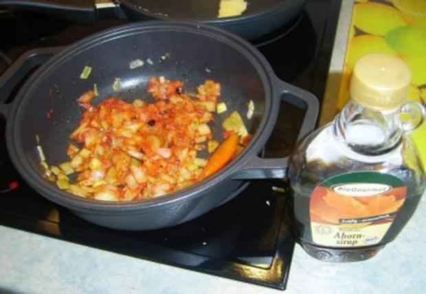 Südamerikanisches Hüftsteak mit Pfeffer - Chili Soße - Rezept