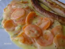 Karottengemüse umhüllt von Sahne-Käse-Soße - Rezept