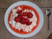 Erdbeer Sahne Milchreis - Rezept