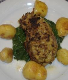 """Rumpsteak """" Strindberg """" auf Blattspinat und geschmolzene Kartoffeln - Rezept"""