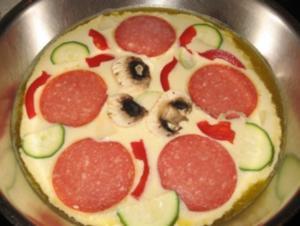 Pizza-Pfannekuchen - Rezept