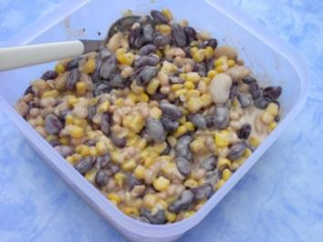 Rezept: Bunter Bohnensalat