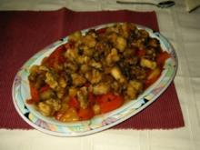 Knusprige Fischstückchen süßsauer - Rezept