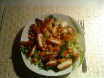 Gemischter Salat mit Hähnchen-Nuggets - Rezept