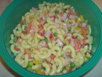 Nudelsalat mit eifreier Mayonaise - Rezept