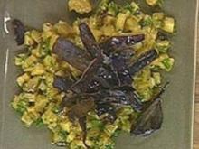 Angemachte Auberginenwürfel - Rezept