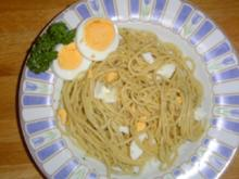 Spaghetti-Eier-Salat - Rezept