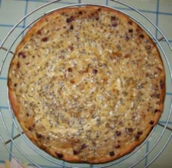 Zwiebelkuchen mit Quark-Öl-Teig - Rezept