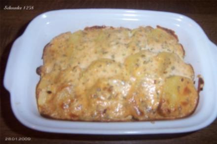 Kartoffel- Räucherlachs-Auflauf - Rezept