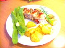 Schnitzelröllchen mit Rosmarinkartoffeln - Rezept