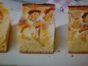 Apfelkuchen ohne Fett im Kuchenteig - Rezept