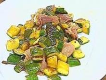 Zucchini mit Serranoschinken - Rezept