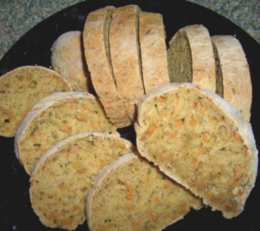 Möhren-Petersilien Brot - Rezept