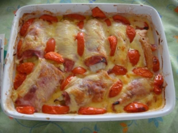 Auflauf: Chicoree im Schinken-Käse Mantel - Rezept