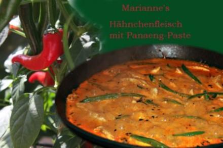 Hähnchenfleisch mit Panaeng-Paste - Rezept