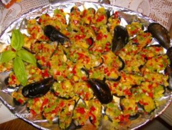 Spanien - Miesmuscheln im bunten Kleid - Rezept