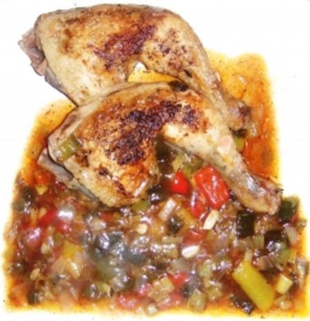 Spanisches Huhn - Rezept