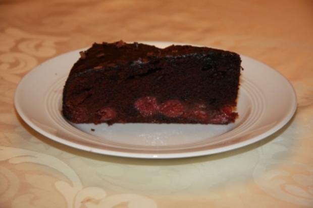 Aufgekochter Schoko-Kirsch-Kuchen - Rezept