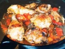 FLEISCH: Hähnchenschlegel vom Blech - Rezept
