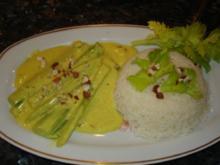 Stangensellerie in Currysauce - Rezept