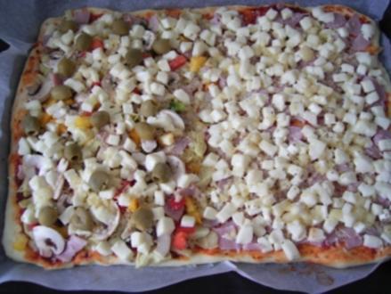 meine Pizza quattro Stagioni - Rezept