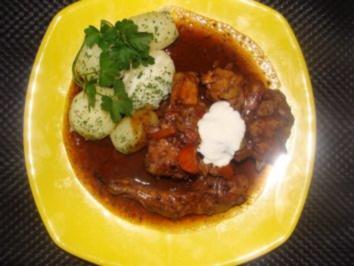 Rezept: Fleisch : -Kaninchen  mit Sauce-
