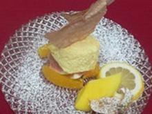 Honig-Ingwer-Mousse auf Orangen-Salat - Rezept