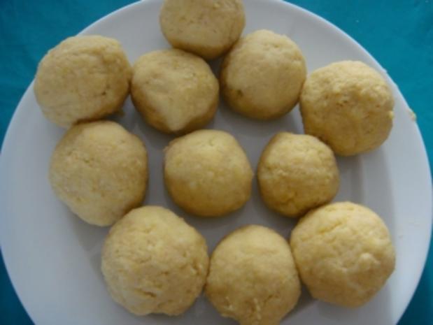 Beilagen: Kartoffelknödel Halb und Halb - Rezept