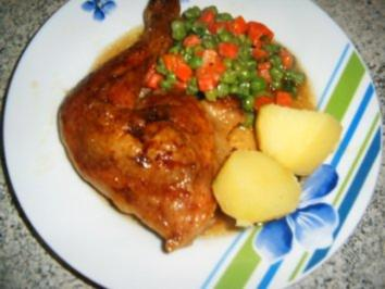 Feurige Hähnchenkeulen - Rezept