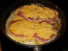 Gruyere-Steaks mit Lauchgemüse und Kartoffeln - Rezept