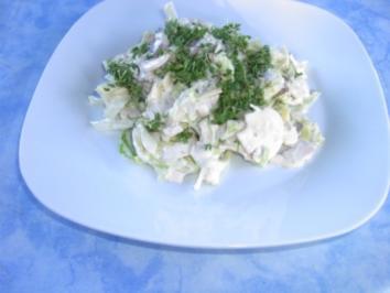 Champignon-Käse-Salat - Rezept
