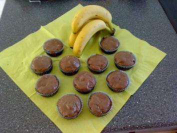 Schoko-Banane Muffins - Rezept