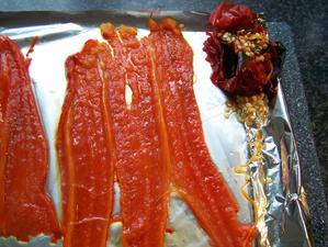 Paprika lassen sich gut im warmen Zustand häuten... - Tip