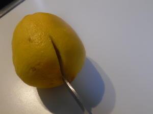 Zitrone in kleinen Mengen auspressen - Tip