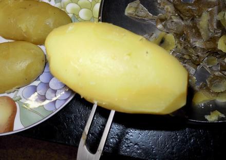 Pellkartoffel schälen - Tip