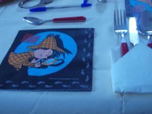 Tischdeko - Krimidinner - Tip