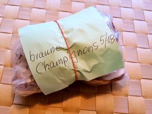 Einfrieren von frischen Champignons - Tip