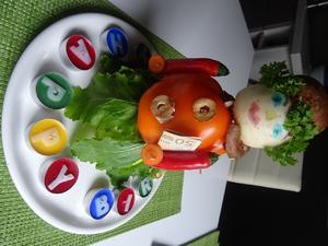 Bastel-Vorschlag für eine Gemüse-Figur - Tip