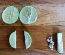 Frischer Limonensaft aus Limonen - Tip