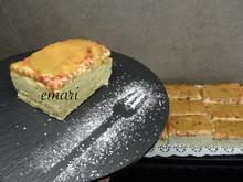 Cremeschnitten in Portionen schneiden ohne sie zu zerquetschen - Tip