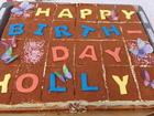 kleine Geburtstags ~ Deko auf einem Blechkuchen ... - Tip