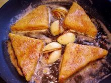 Panierte Schnitzel oder Fisch - goldgelb gebraten, - Tip
