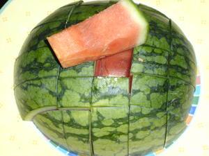 Wassermelone portionieren - Tip