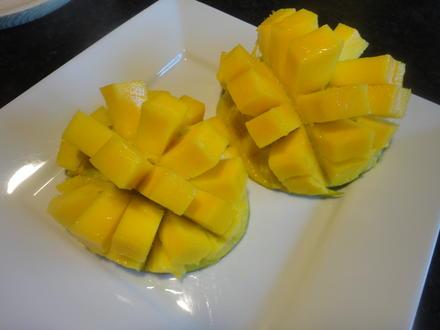 Mango zerteilen und servieren? ganz einfach - Tip
